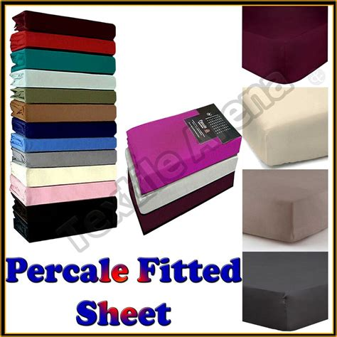 percale fitted sheet 180 thread count non iron single