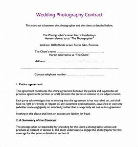 14 wedding photography contract templates to download With free wedding videography contract template