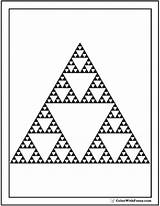 Coloring Triangle Shape Triangles Sierpinski Circles Squares Colorwithfuzzy sketch template