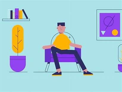 Character Flat Career Animation Dribbble Examples 2d