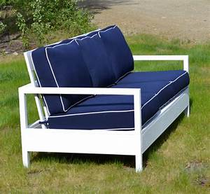 ana white simple white outdoor sofa diy projects With outdoor sectional sofa plans ana white
