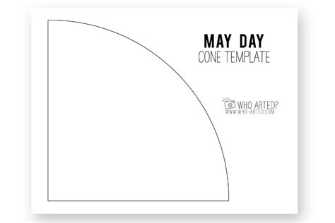 paper cone template may day cone template