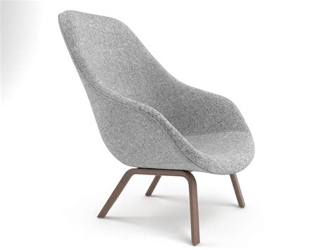 about a lounge chair aal93 3d model hay