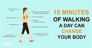 Change Your Body And Live Longer By Walking Just 15 Minutes A Day Walking and Your Health