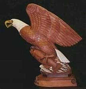 Eagle Sculpture - Wildlife Art, Wooden Eagle Statue by R L