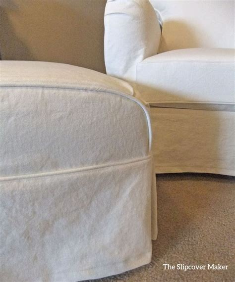 chair and ottoman covers 9 best images about peggy s white denim slipcover on