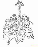 Coloring Spring Maypole Children Printable Dance Nature Sheets Pole Beltane Bestcoloringpagesforkids Results Sheet Worksheets Coloringpagesonly Printing sketch template
