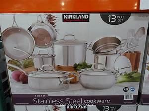 Kirkland Signature 13pc Stainless Steel Cookware Set