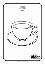 Coloring Cup Pages Objects Cool Empty Template sketch template