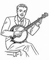 Banjo Coloring Printable Onlinecoloringpages Sheet sketch template