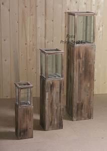 Laterne Kerze Draußen : rustikale holzlaterne braun gartenlaterne landhausstil ~ Watch28wear.com Haus und Dekorationen