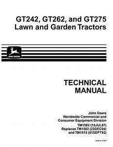 John Deere Gt275 Lawn Garden Tractor Service Repair Manual