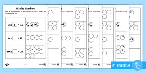 year 2 maths times tables missing numbers homework worksheets year 2