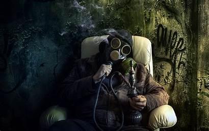 420 Mask Gas Bong Drugs Marijuana Dark