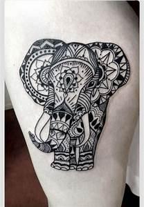 Elephant, trunk up for good luck. | Tattoos. | Pinterest ...