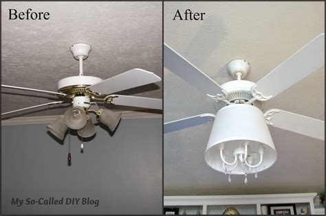ceiling fan chandelier diy remodelaholic 11 awesome before and afters may link