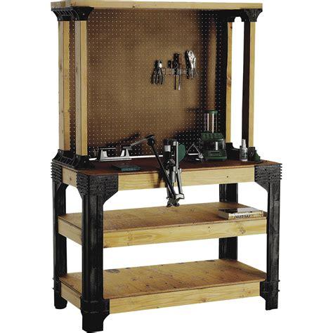 Work Bench Kits by 2x4 Basics Anysize Workbench Kit With Shelflinks Model
