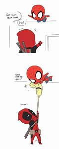 Chibi Spider-man vs. Deadpool | Superheroes | Pinterest ...