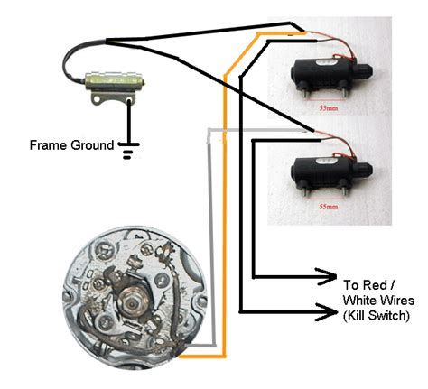 Motorcycle Wiring A Condenser by Another Points Condensor Coil Wiring Question Yamaha