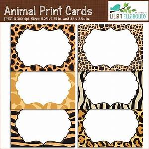 animal print cards and invites printable set of six With leopard print invitations templates