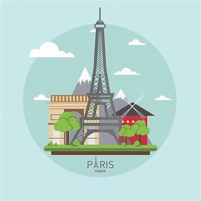 Paris Clipart France Landmarks Clip French Travel