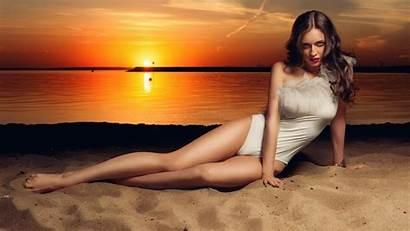 Swimsuit Wallpapers Desktop Swimwear Backgrounds Beach Sunset