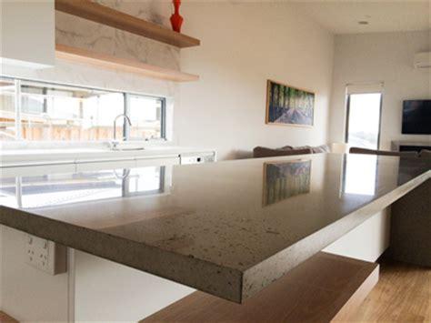 polished concrete benchtops build