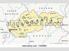 Czech Republic Political Map with capital Prague, national