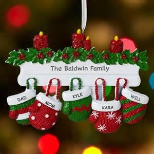 mitten family ornament