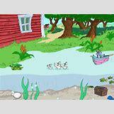 Cartoon Farm Scene | 640 x 480 gif 58kB
