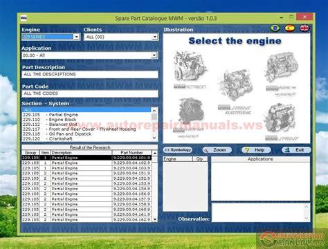 mwm 1 03 engine spare parts catalog auto repair manual forum heavy equipment forums