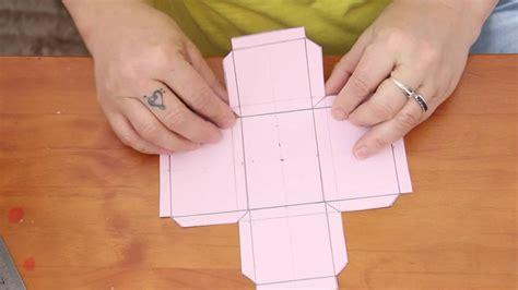 dica como criar molde de caixinha de papel dicas