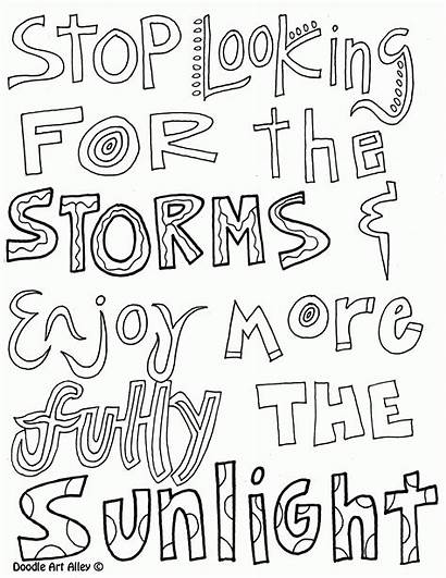 Coloring Quotes Doodle Alley Inspirational Popular