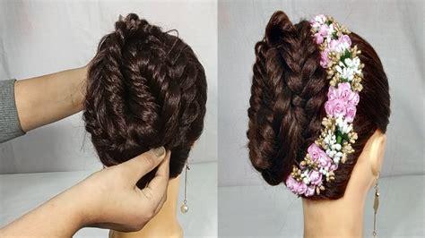 simple gajra hairstyle  weddingparty bridal gajra