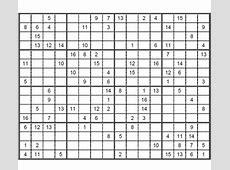 Sudoku 16 x 16 difícil para imprimir 3 Sudoku gratis para