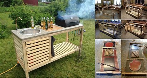 how to build an outdoor kitchen island wonderful diy portable outdoor kitchen