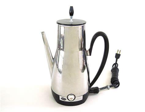 %name Electric Percolator Coffee Pot   Vintage Electric Coffee Pot Percolator Urn Westinghouse SOLD on Ruby Lane