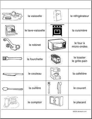 vocabulaire de la cuisine association de vocabulaire de cuisine abcteach