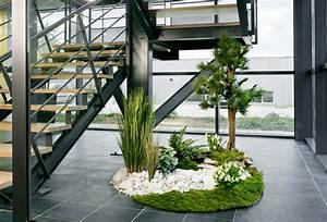 jardin interieur entree With jardin japonais interieur maison