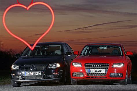 Audi Vw by Audi A4 1 8 Tfsi Vs Vw Passat 1 8 Tsi Bilder Autobild De