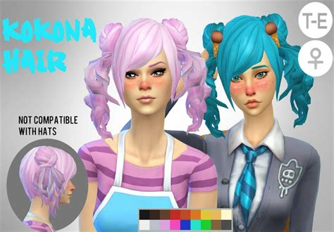image result  sims  ponytail cc yandere sims pinterest
