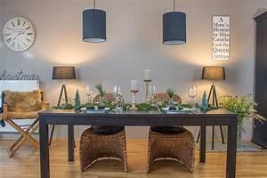Weihnachtliche Tischdeko Mit Naturmaterialien Schn Bei