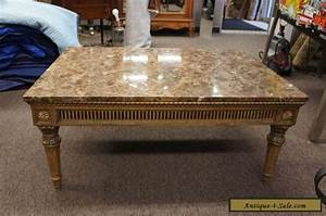vintage french louis xv style marble top coffee table With antique marble coffee table for sale