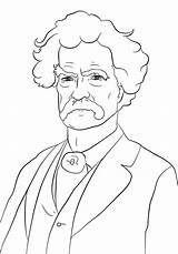 Coloring Malcolm Mark Twain Drawings Sheets Printable Famous Outline Jane Addams History Drawing Crafts African Sketch Template Writer Supercoloring Open sketch template
