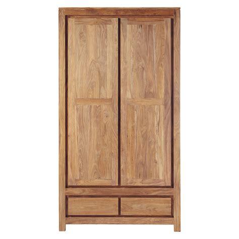 solid sheesham wood closet w 110cm stockholm maisons du