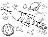 Coloring Spaceship Space Saturn Pages Printable Simple Drawing Print Drawings Designlooter Getdrawings 235px 79kb sketch template