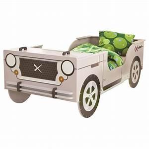 Lit Voiture 90x190 : someo lit enfant jeep safari avec sommier 90 x 190 cm ~ Teatrodelosmanantiales.com Idées de Décoration