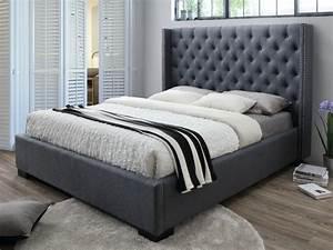 Tissu Pour Tete De Lit : lit massimo t te de lit capitonn e 160x200cm tissu gris ~ Preciouscoupons.com Idées de Décoration