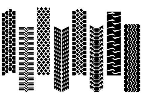 Set Of Tractor Tire Vector