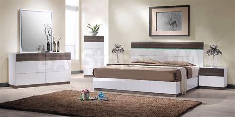 soli modern bedroom bed set platform bed  lights
